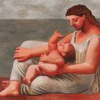 Пабло Пикассо. Женщина с ребенком на берегу моря. 1921