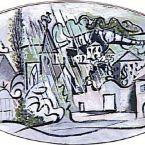 Пабло Пикассо. Буажелу в дождь. 1932
