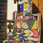 Пабло Пикассо. Женщина, сидящая у окна. 1937