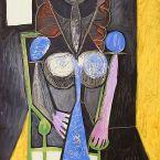 Пабло Пикассо. Женщина в кресле (Франсуаза). 1946