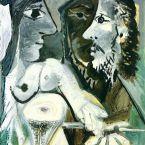 Пабло Пикассо. Художник и модель. 1967