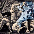 Пабло Пикассо. Вакханалия. 1955