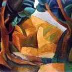 Пабло Пикассо. Пейзаж с двумя фигурами. 1908