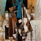 Пабло Пикассо. Скрипка в кафе. 1913