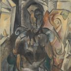 Пабло Пикассо. Женщина в кресле. 1909