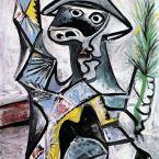 Пабло Пикассо. Арлекин с палкой. 1969 ($10,1 млн)