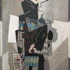 Пабло Пикассо. Арлекин со скрипкой. 1918