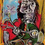 Пабло Пикассо. Мужчина со шпагой и цветком. 1969