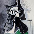 Пабло Пикассо. Портрет женщины в зеленом платье. 1961