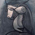 Пабло Пикассо. Голова женщины в шляпе (Дора Маар). 1939