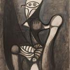 Пабло Пикассо. Сова на стуле. 1947