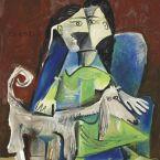 Пабло Пикассо. Женщина с собакой. 1962 ($10,9 млн)