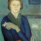 Пабло Пикассо. Молодая женщина с сигаретой. 1901