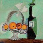 Пабло Пикассо. Натюрморт. Корзина фруктов и бутылка. 1937 ($4,2 млн)