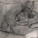 Пабло Пикассо. Палитра и голова быка. 1938 ($1,8 млн)