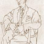 Пабло Пикассо. Портрет Игоря Стравинского. 1920