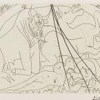 Пабло Пикассо. Сюита Воллара (087). Женщина тореадор. 1934