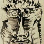 Пабло Пикассо. Голова Минотавра. 1958