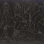 Пабло Пикассо. Алжирские женщины, литография 1. 20 января 1955