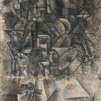 Пабло Пикассо. Человек с мандолиной. 1911