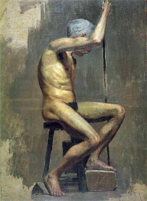 Картина Пабло Пикассо. Академический этюд. 1895
