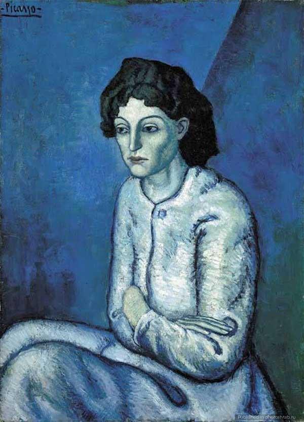 Пабло Пикассо Женщина со скрещенными руками.