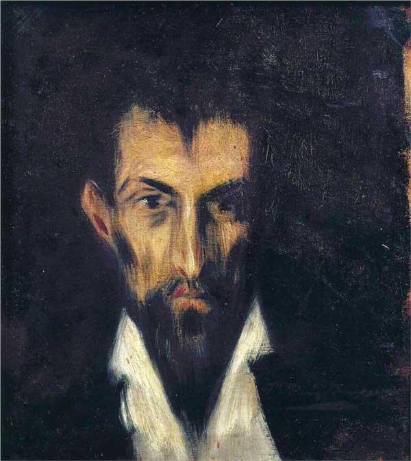 Картина Пабло Пикассо. Портрет незнакомца в стиле Эль Греко. 1899