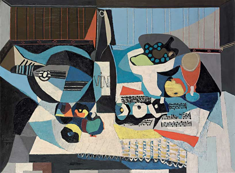 Картина Пабло Пикассо. Бутылка вина. 1926