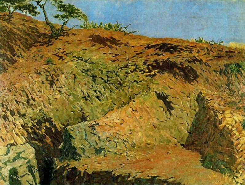Картина Пабло Пикассо. Горный пейзаж. 1896