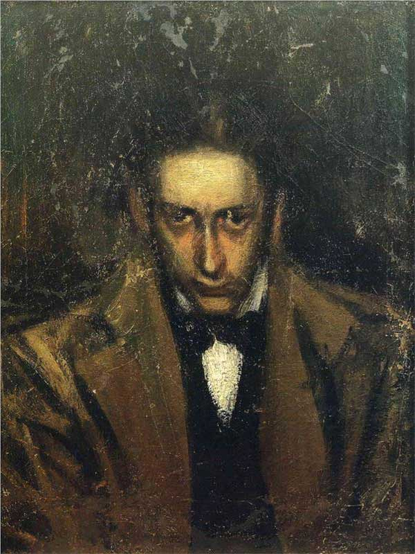 Картина Пабло Пикассо. Портрет Касагемаса. 1899
