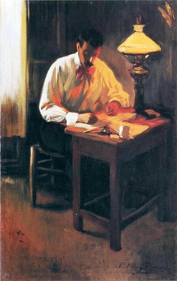 Картина Пабло Пикассо. Портрет Хосепа Кардоны. 1899