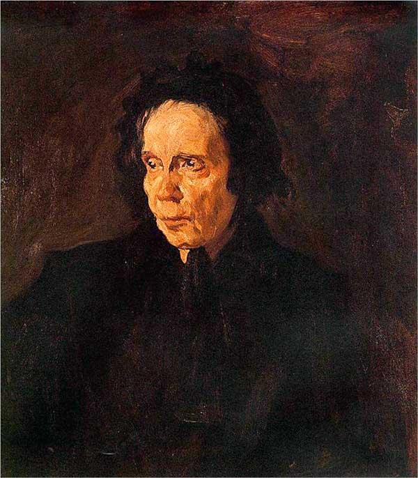 Картина Пабло Пикассо. Портрет тетушки Пепы. 1895