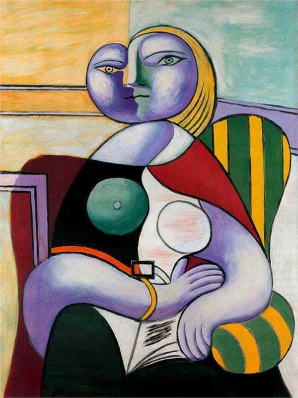 Картина Пабло Пикассо. Чтение. 1932