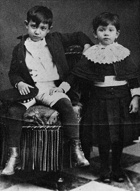 Пабло Пикассо и сестра Лола. Малага. Фото 1889