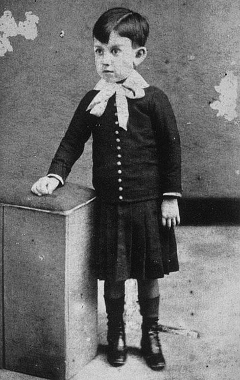 Пабло Пикассо в детстве. Фото ок. 1886