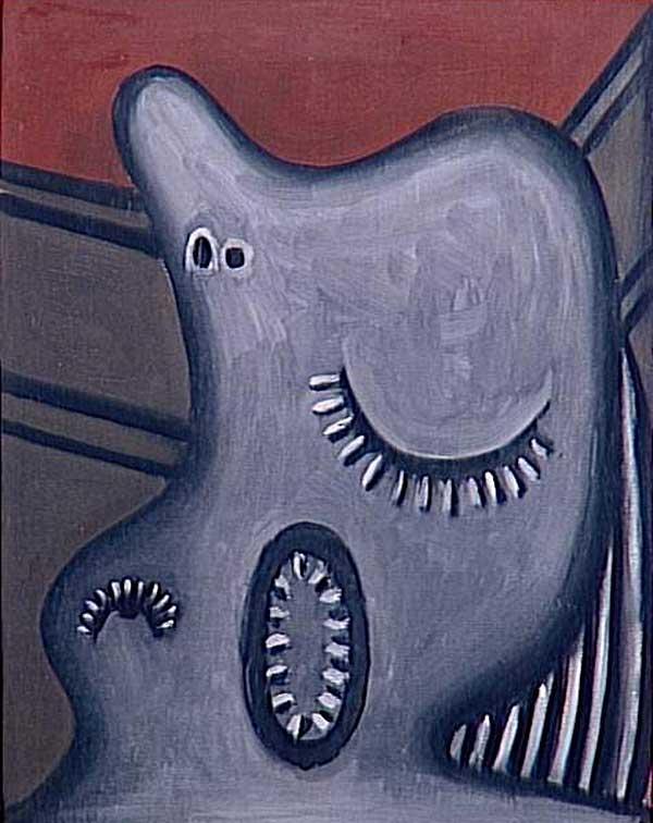 Картина Пабло Пикассо. Спящая. 1927