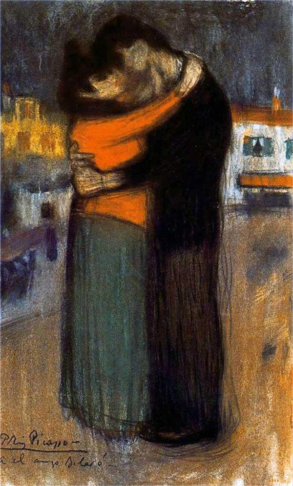 Картина Пабло Пикассо. Объятия. 1900