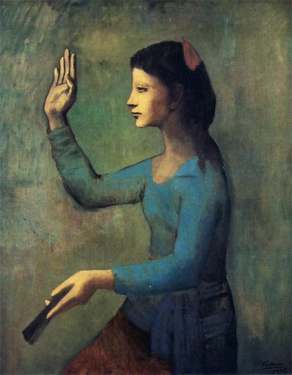 Картина Пабло Пикассо. Дама с веером. 1905