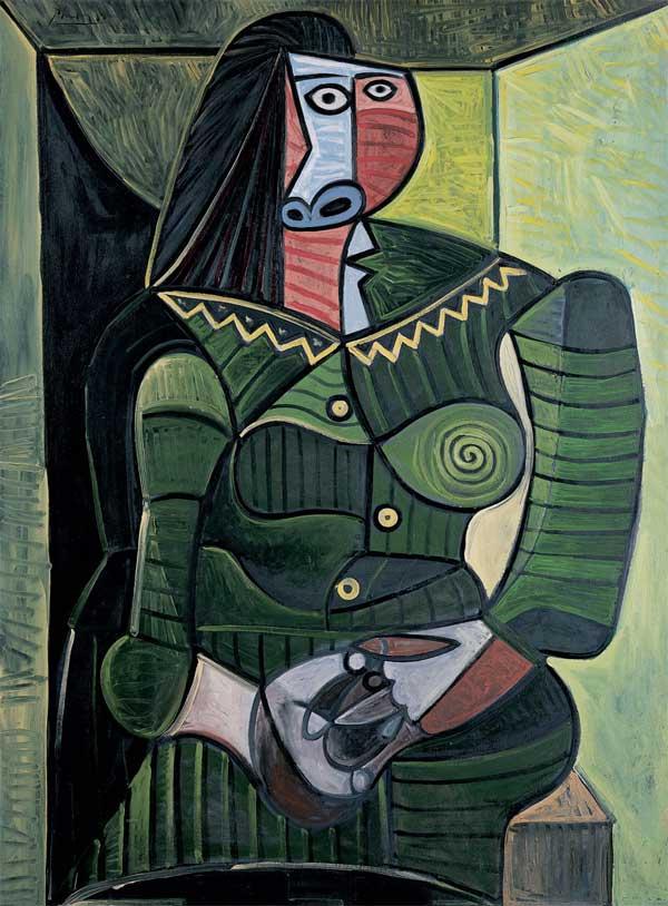 Картина Пабло Пикассо. Женщина в зеленом (Дора). 1944