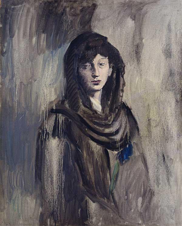 Картина Пабло Пикассо. Фернанда в черной мантилье. 1905-1906
