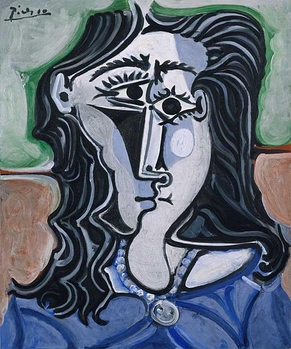 Картина Пабло Пикассо. Голова женщины. 1960