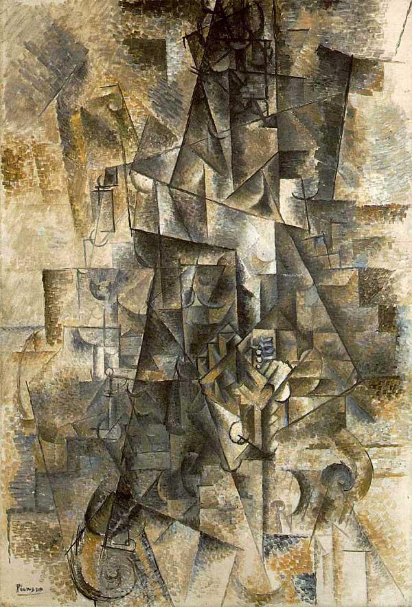 Картина Пабло Пикассо. Аккордеонист. 1911