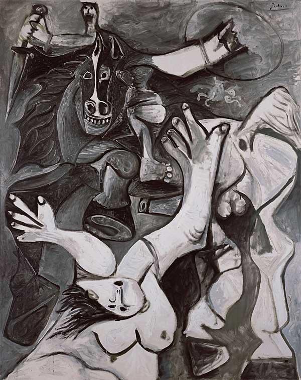 Картина Пабло Пикассо. Похищение сабинянок. 1962