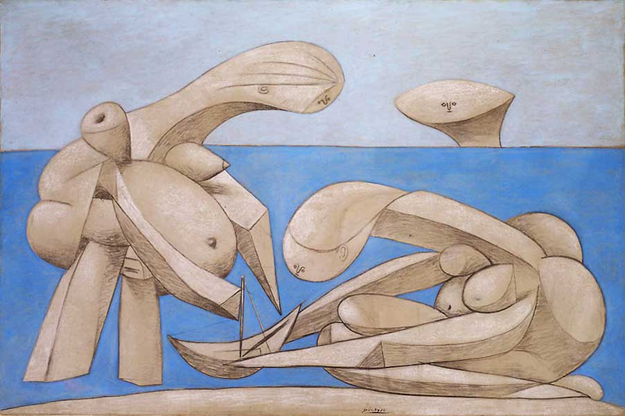 Картина Пабло Пикассо. Бассейн (Купальщицы с игрушечной лодкой). 1937