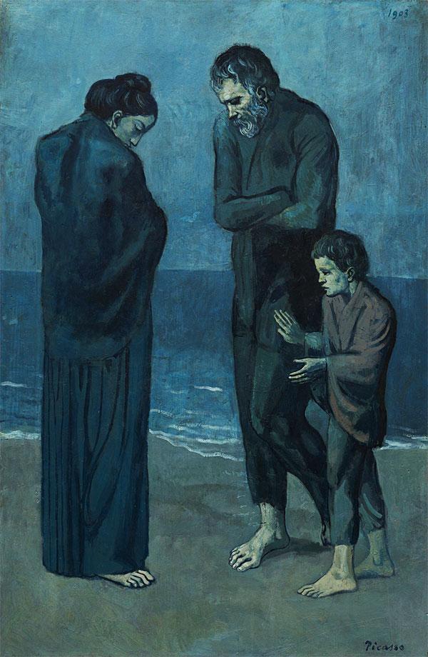 Картина Пабло Пикассо. Трагедия. 1903