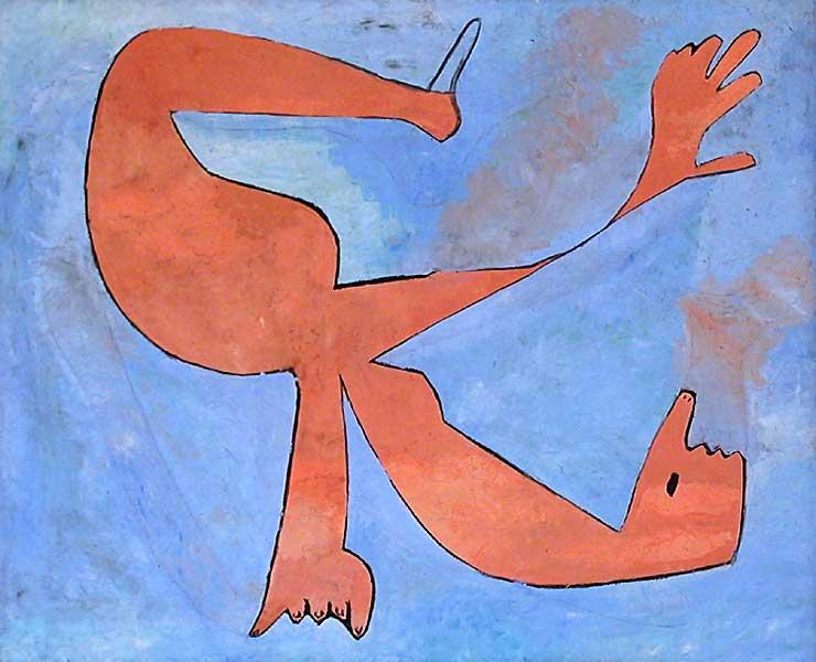 Картина Пабло Пикассо. Ныряльщик. 1929