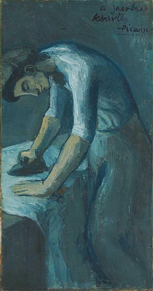 Картина Пабло Пикассо. Гладильщица. 1901