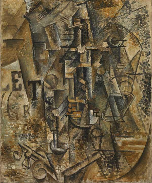 Картина Пабло Пикассо. Бутылка рома. 1911