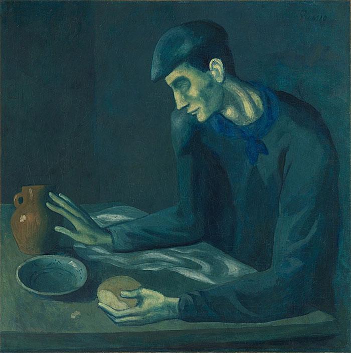Картина Пабло Пикассо. Завтрак слепого. 1903