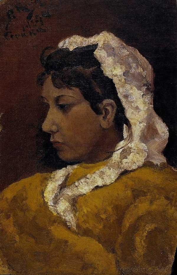 Картина Пабло Пикассо. Лола Пикассо, сестра художника. 1894